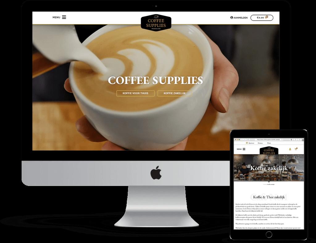 coffeesupplies multiple devices - Websitetoday - Webdesign en Online Marketing Driebergen-Rijsenburg